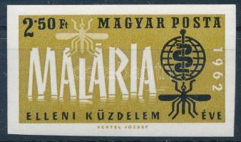1962 A malária elleni küzdelem éve I. vágott bélyeg