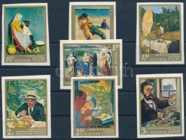 1967 Festmények III. vágott sor (3.500) (néhány értéken ujjlenyomat / fingerprint)