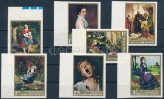 1966 Festmények I. vágott sor (4.500) (ujjlenyomatok / fingerprints)