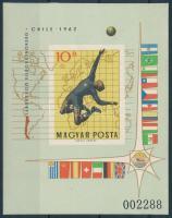 1962 Labdarúgó világbajnokság I. - Chile vágott blokk (5.000)