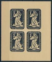 1937 Magyar Nemzeti Nyomtatványkiállítás 4é levélzáró kisív