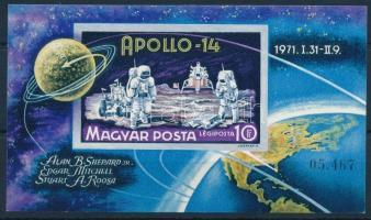 1971 Apollo-14 vágott blokk (4.000) (halvány ujjlenyomatok / slight fingerprints)