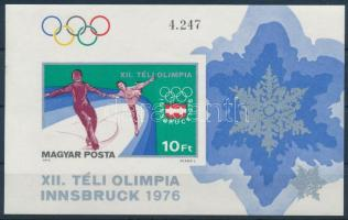 1975 Téli olimpia V. - Innsbruck vágott blokk (3.500)