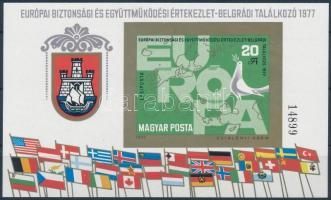 1977 Európai Biztonsági és Együttműködési Értekezlet IV. - Belgrád vágott blokk (5.000)