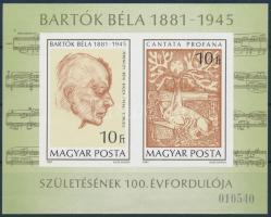 1981 Bartók Béla vágott blokk (4.500)