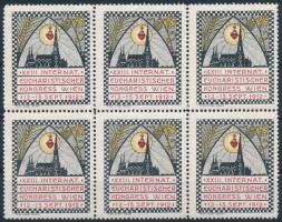 1912 Bécsi Eucharisztikus kongresszus levélzáró 6-os tömb