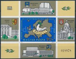 1980 Európai Biztonsági és Együttműködési Értekezlet V. - Madrid vágott blokk (6.000)