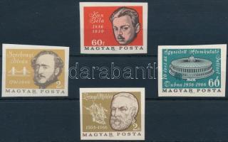 1966 Évfordulók - események IV. 4 klf vágott bélyeg (6.000)