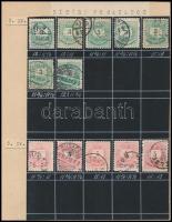1881-1889 29 db Krajcáros bélyeg eltérő fogazat variációkkal, speciál gyűjteményből