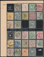 1888-1889 50 db Krajcáros bélyeg klf vízjelállásokkal, lemezhibákkal