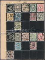 1898-1899 48 db Krajcáros bélyeg klf vízjelállásokkal, korona állásokkal, lemezhibákkal