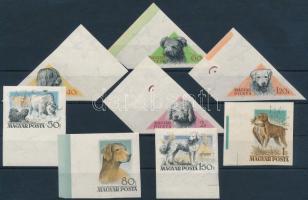 1956 Magyarországi kutyafajták I. vágott ívszéli sor (12.000) (1Ft gumihiba, rozsda / gum disturbance, stain)