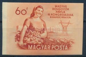 1954 MDP kongresszus II. vágott bélyeg (8.000)