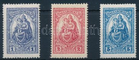 1926 Keskeny Madonna szépen újragumizott sor / nicely regummed set (**35.000)