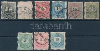 9 db Krajcáros bélyeg