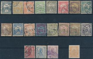 19 db Turul + 1 Hírlap bélyeg