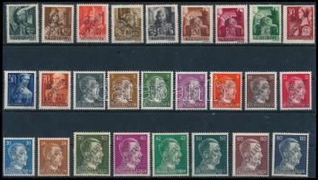 Muraszombat 1945 11 db magyar és 15 db német megszállási bélyeg, mindegyik Bodor vizsgálójellel