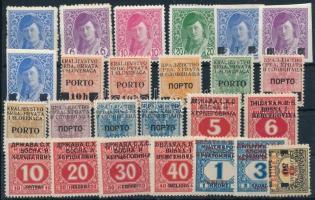 Jugoszlávia 1918-1919 25 db felülnyomott bélyeg