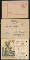 10 db I és II világháborús magyar és német tábori és hadifogoly küldemény