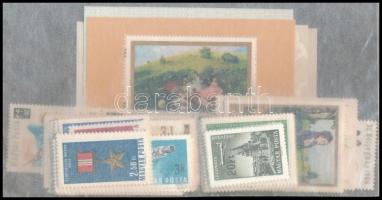 1966 A teljes évfolyam bélyegei és blokkjai, tasakban