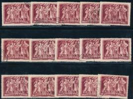 1950 Felszabadulás II. 60f 15 db bélyeg makkos vízjellel (15.000)