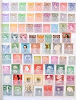 NSZK gyűjtemény kevés pecsételt bélyeggel, blokkok nélkül az 1945-2007 közötti időszakból, 16 fehér lapos, 9 soros A4-es berakóban (Mi EUR 3.045,-)