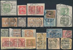28 db Turul bélyeg részben kivágásokon közte szép / érdekes bélyegzések