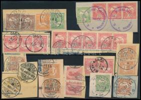 29 db Turul bélyeg kivágásokon közte szép / érdekes bélyegzések