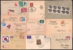 Küldemény összeállítás az 1920-1950 közötti időszakból, benne 27 db levél és levelezőlap