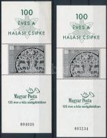 2002 Halasi csipke 2 db feketenyomat ajándék blokk (24.000) (az egyiken betapadás, gumihiba / gum disturbance)
