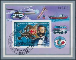 1981 Vöröskereszt vágott blokk (4.500)