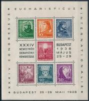 1938 Eucharisztikus blokk (10.000) (apró gumihiba / gum disturbance)