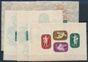 1941 10 db, közte 6 db Árvíz, 3 db Mátyás és 1 db művész (törések / folds)
