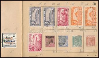 Nagy-Britannia és gyarmatai bélyegek kisalakú cserefüzetben