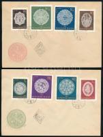 1960 Halasi csipke vágott sor 2 db FDC-n (6.000)