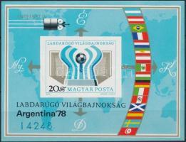 1978 Labdarúgó Világbajnokság (III.) - Argentína vágott blokk (3.500)