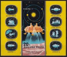 1976 Bolygókutatás vágott blokk (4.000)