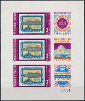 1977 Bélyegbemutató vágott kisív (4.000) (törés / fold)