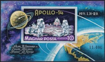 1971 Apollo-14 vágott blokk (4.000)