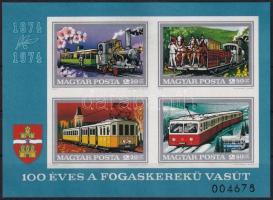 1974 Fogaskerekű vágott blokk (6.500)