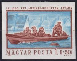 1965 Árvíz (III.) vágott bélyeg