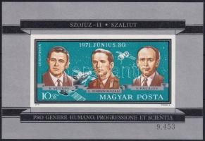 1971 Szojuz 11 vágott blokk (3.500)