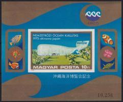 1975 Nemzetközi óceánkiállítás vágott blokk (6.000)