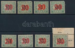 1915 Kisegítő portó 4 db III. és 4 db IV vízjelű bélyeg, utóbbiak mind postatiszták (~49.000)