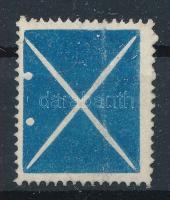 1858 Kis kék andráskereszt (regiszterhajtás)