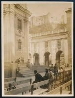 1931 Kinszki Imre (1901-1945) budapesti fotóművész hagyatékából, általa feliratozott és datált vintage fotó (ez a szerző 930. sz. felvétele), 8,4x6,3 cm