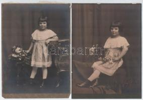 cca 1920 Budapest, Koller utóda Szenes fényképész hidegpecsétjével jelzett 2 db vintage fotó, 20x15 cm
