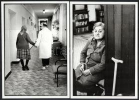 1988 Schmidt Andrea: Otthon I-II-III., a szegedi fotóművész 3 db feliratozott vintage fotóművészeti alkotása, 18,3x13 cm és 22,7x16 cm