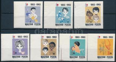 1963 Vöröskereszt vágott ívszéli sor / Mi 1944-1950 imperforate margin set