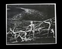 cca 1968 Mozgásművészeti kompozíció, Kotnyek Antal (1921-1990) budapesti fotóriporter hagyatékából 1 db NEGATÍV, 3,8x4,5 cm